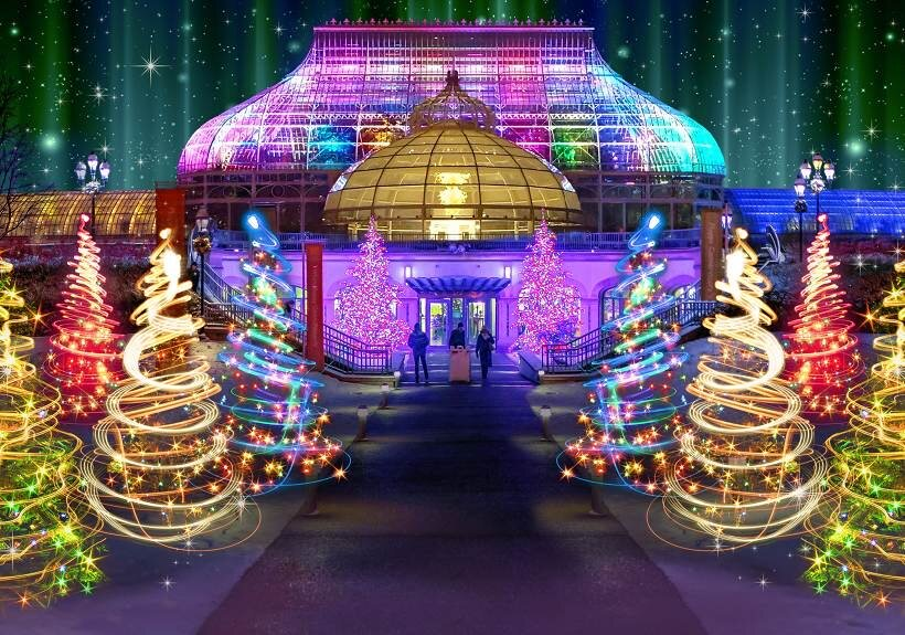 Phipps Conservatory's Holiday Magic! Winter Flower Show and Light Garden